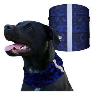 sa company Other - BLUE PAISLEY Dog Shield Bandana Scarf